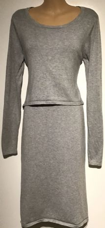 MAMALICIOUS GREY NURSING JUMPER DRESS SIZE M 12